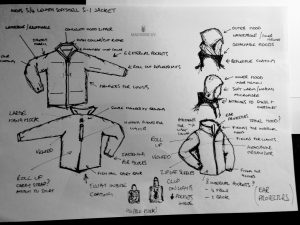 Maunder XV Deepcover outerwear sketch